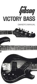 1981 Victory bass owners manual