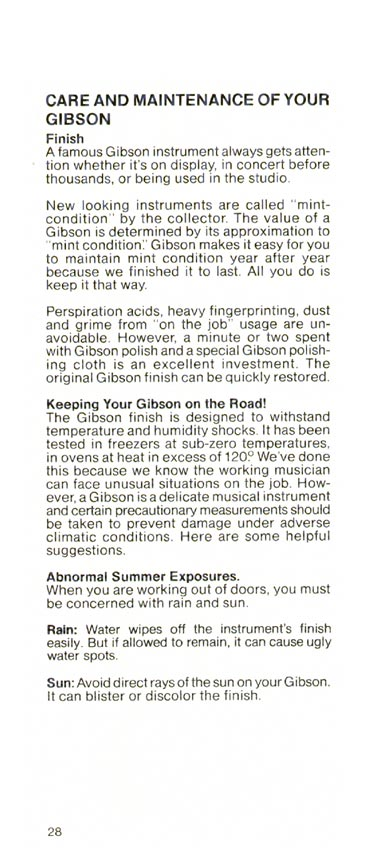 1981 Gibson Victory bass owners manual page 28