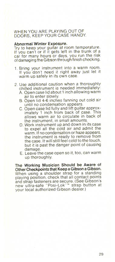 1981 Gibson Victory bass owners manual page 29