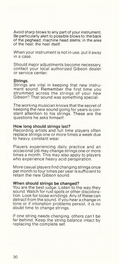 1981 Gibson Victory bass owners manual page 30