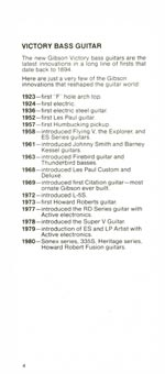 1981 Gibson Victory bass owners manual page 4