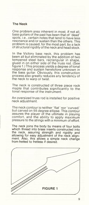 1981 Gibson Victory bass owners manual page 9