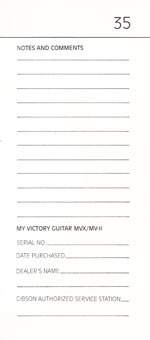 1981 Gibson Victory MV Owners Manual page 35