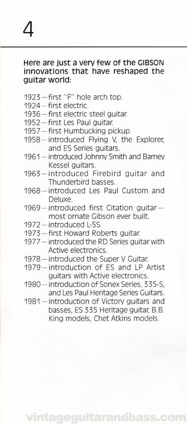 1981 Gibson Victory MV Owners Manual page 4