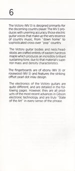 1981 Gibson Victory MV Owners Manual page 6