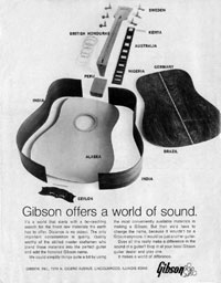 Gibson Flattops - Gibson Offers a World of Sound