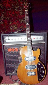 1972 Gibson Les Paul Triumph bass with 1973 WEM Dominator bass MK1