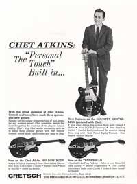 "Gretsch Chet Atkins Country Gentleman 6122 - Chet Atkins: the ""Personal Touch"" built in..."