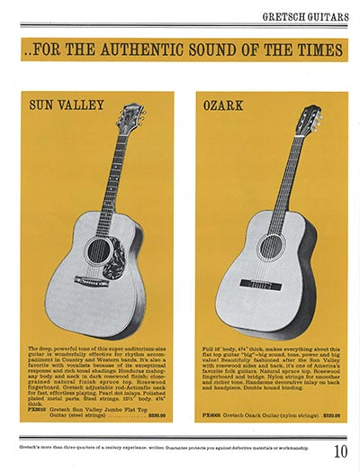 1965 Gretsch guitar catalog page 10