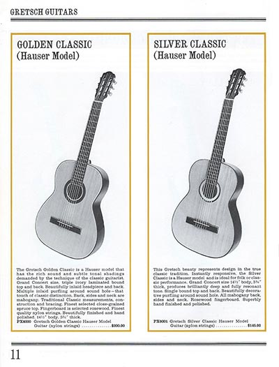 1965 Gretsch guitar catalog page 11