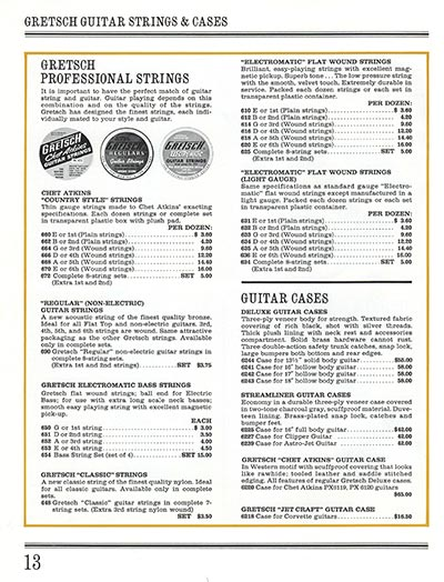 1965 Gretsch guitar catalog page 13