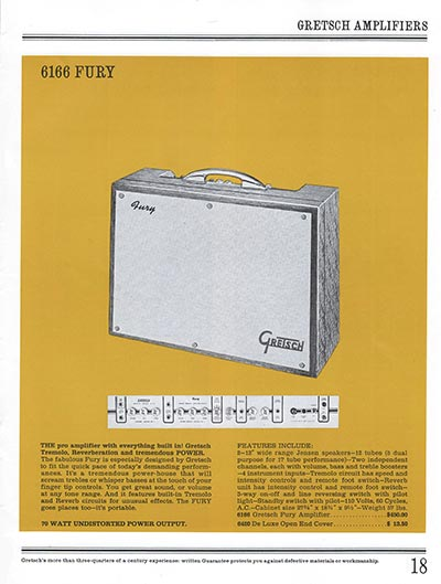 1965 Gretsch guitar catalog page 18