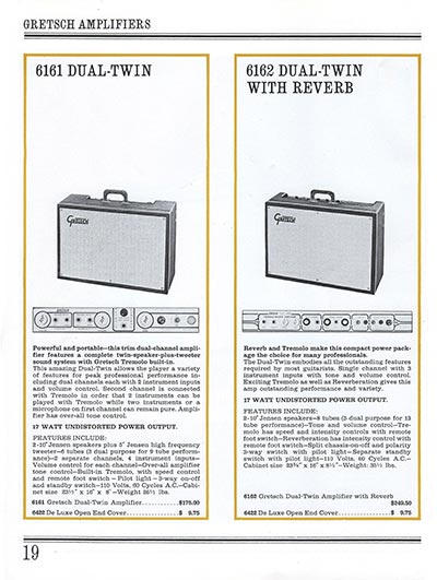 1965 Gretsch guitar catalog page 19