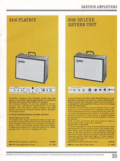 1965 Gretsch guitar catalog page 20