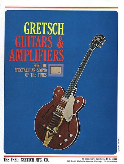 1965 Gretsch guitar catalog back cover