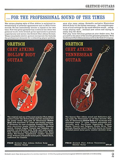 1965 Gretsch guitar catalog page 2