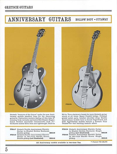 1965 Gretsch guitar catalog page 5