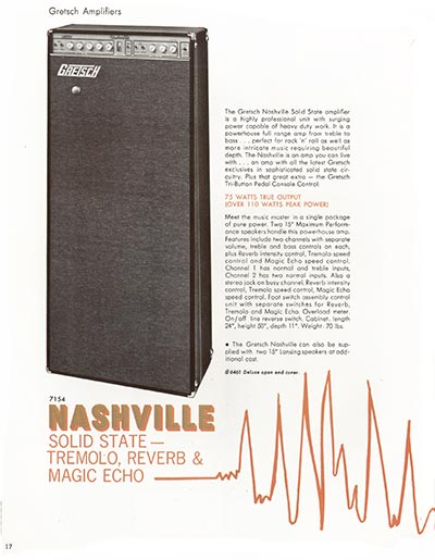 1968 Gretsch electric guitars and amplifiers catalogue page 18