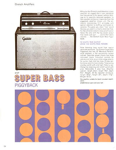 1968 Gretsch electric guitars and amplifiers catalogue page 20