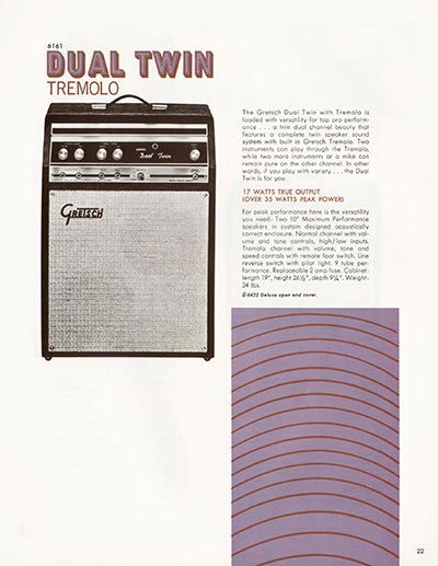 1968 Gretsch electric guitars and amplifiers catalogue page 23