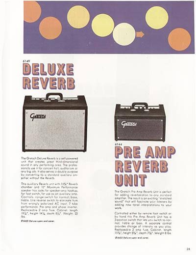 1968 Gretsch electric guitars and amplifiers catalogue page 25