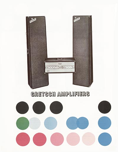 1968 Gretsch electric guitars and amplifiers catalogue page 26