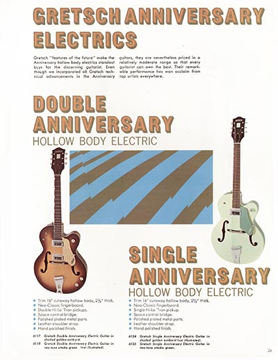 1968 Gretsch electric guitars and amplifiers catalogue page 27