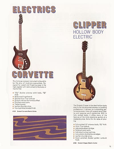 1968 Gretsch guitar catalog page 28