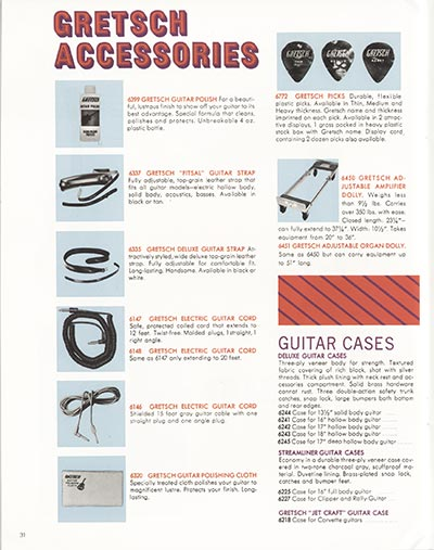 1968 Gretsch electric guitars and amplifiers catalogue page 32