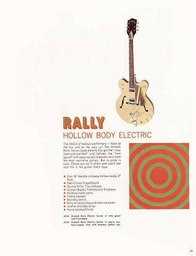1968 Gretsch electric guitars and amplifiers catalogue page 35
