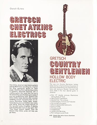 1968 Gretsch guitar catalog page 5