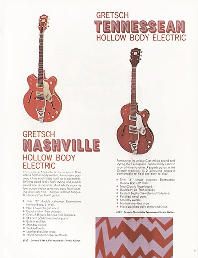 1968 Gretsch electric guitars and amplifiers catalogue page 7