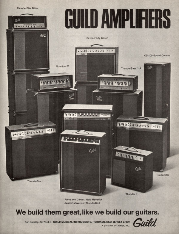 Guild advertisement (1970) Guild Amplifiers