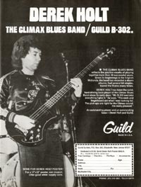 Guild B-302 - Derek Holt. Climax Blues Band / Guild B-302