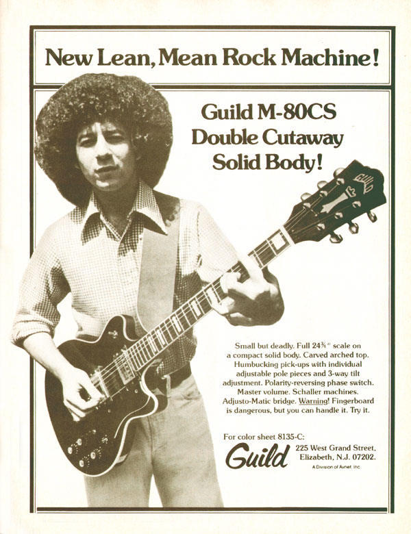 Guild advertisement (1975) New lean, mean rock machine