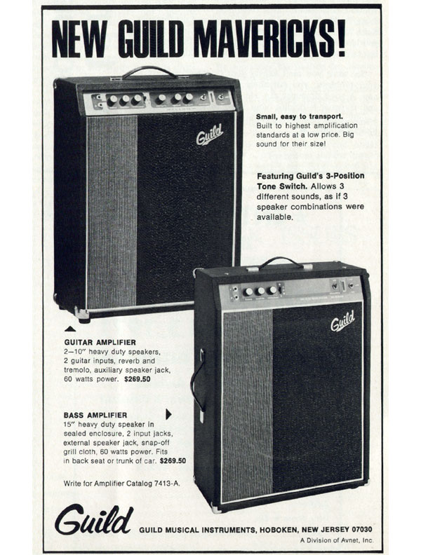Guild advertisement (1971) New Guild Mavericks