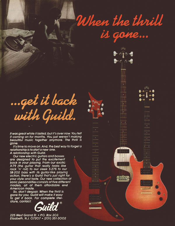 Guild advertisement (1982) When the thrill is gone... get it back with Guild