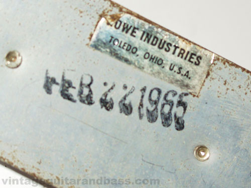 The reverse side of the pickup is marked February 22 1965