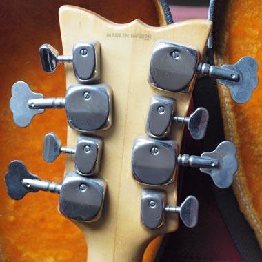 1968 Hagstrom H8 Bass - Reverse headstock detail