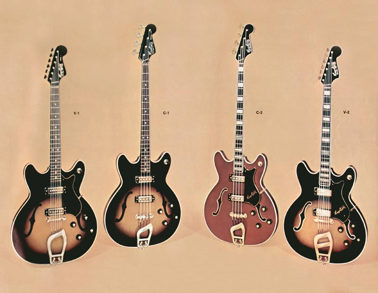1966 Hagstrom guitar catalogue page 15 - Viking guitar and Concord bass