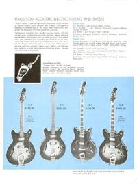 1968 Hagstrom guitar catalogue page 3