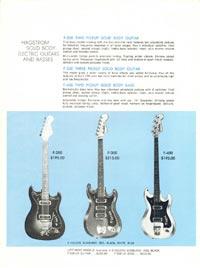 1968 Hagstrom guitar catalogue page 4