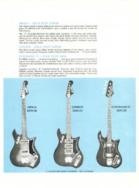 1968 Hagstrom guitar catalogue page 5