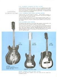 1968 Hagstrom guitar catalogue page 7