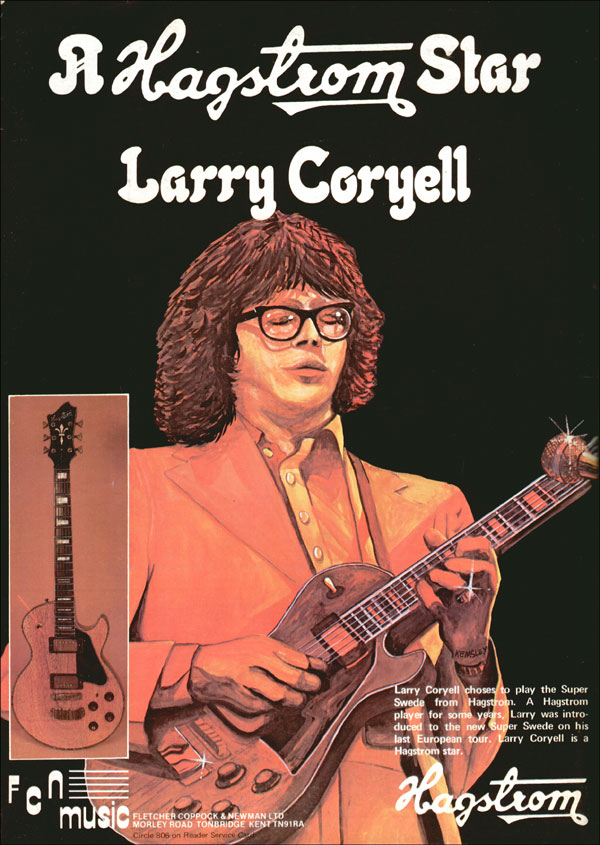 Hagstrom advertisement (1979) A Hagstrom Star - Larry Coryell