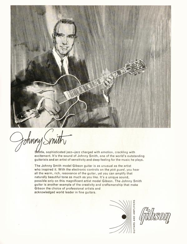 Gibson advertisement (1966) Johnny Smith
