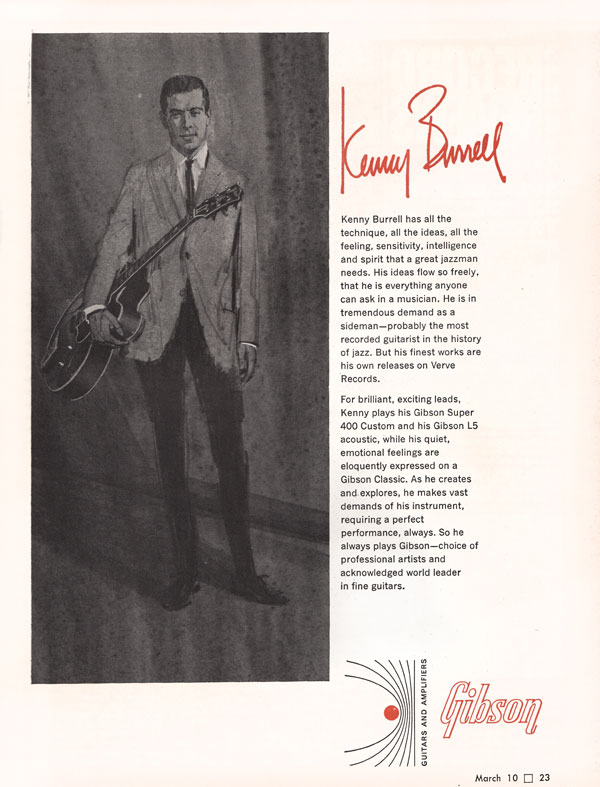 Gibson advertisement (1966) Kenny Burrell