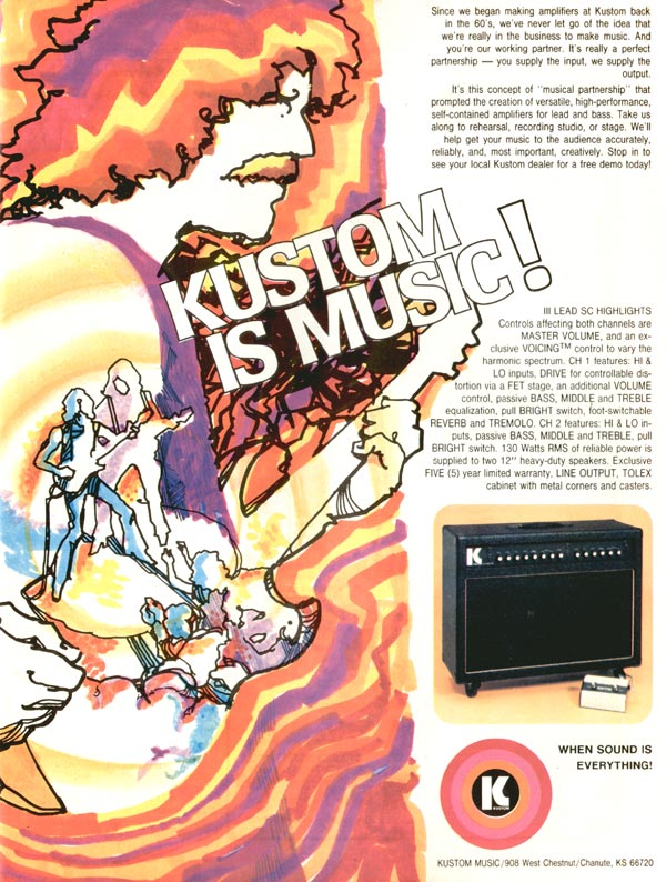 Kustom advertisement (1980) Kustom is Music