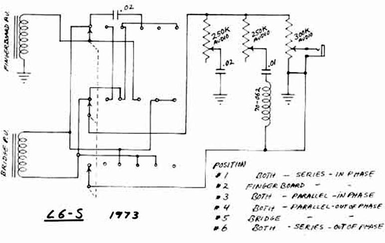Gibson l6 s schematics parts lists vintage guitar and bass gibson l6 s custom schematic cheapraybanclubmaster Image collections