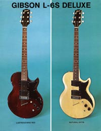 1975 promotional sheet for the Gibson L6-S Deluxe